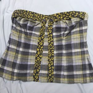 Torrid grey and yellow bustier